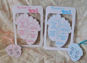 Personalised Handmade Baby Shower feet Invites