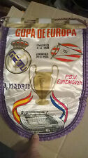 1988 BANDERIN GALLARDETE REAL MADRID PSV EINDHOVEN -  PENNANT - COPA EUROPA