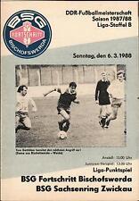 DDR-Liga 87/88 ZEPA progreso Bischofswerda-Sajonia anillo Zwickau, 06.03.1988