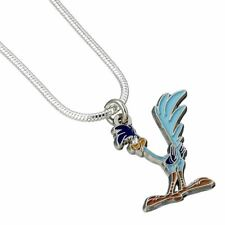 Looney Tunes Road Runner Cute Necklace Pendant - Silver Plated Carat Cartoons