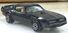 Vintage Yatming 1977 Pontiac Firebird Trans Am #1060 Black w opening doors 1/64