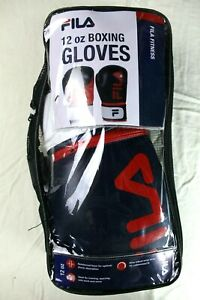 NEW Boxing Gloves Fila Fitness 12oz  Pro Quality Heavy Bag Gym Black Red