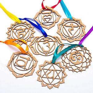 Wooden 7 chakra sign Home Wall Decor. Mandala Symbol. Yoga Meditation Therapy