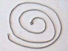 """SILVER TONE 24"""" ROLLO/CABLE CHAIN NECKLACE LOBSTER CLAW CLASP"""
