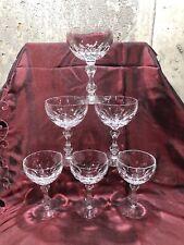 6 Vintage Poland Lead Crystal Wine Glasses