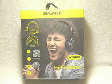 AWEI A750BL FOLDABLE HI FI STEREO WIRELESS HEADPHONES - NEW IN PACKAGE