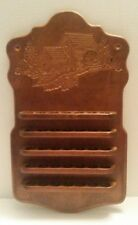 Vintage Wall Decor Thimble/Trinket Display Hand-carved Wood Windmill Etching