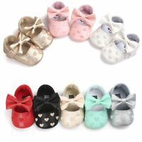 0-18M Newborn Baby Girl Soft Crib Shoes Infants Anti-slip Sneaker Prewalker NEW