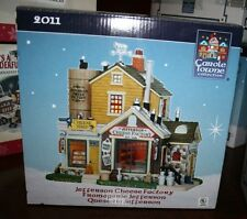 NEW NIB Carole Towne Collection Lighted Lemax Jefferson Cheese Factory 2011 RARE