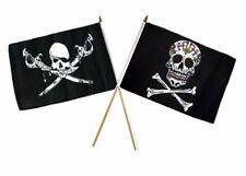 "12x18 12""x18"" Wholesale Combo Pirate Brethren Coast & Sugar Skull Stick Flag"