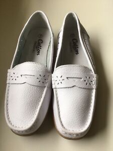 Womens Cotton Traders White Loafer Shoes UK Size 7( New Other )