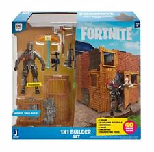 Fortnite Builder Set, 1x1, 4'' Action Figure, Building Materials And Weapons