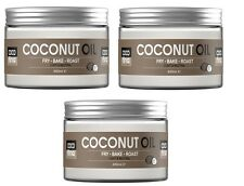 3 x 100% Pure Coconut Oil 450ml -Fast FREE UK Shipping