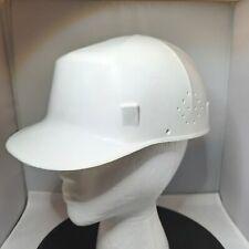 Vintage Ed Bullard Co Usa White Mk 2 Hard Boiled Bump Cap Withliner