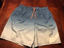 Blue Nike Striped Ombre Volley Swim Trunks Xl