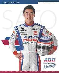 "2016 INDY 500 TAKUMA SATO JAPAN AJ FOYT RACING INDYCAR 8""X10"" HERO CARD !"
