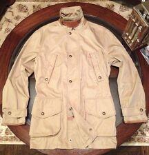 Ralph Lauren Gent's Sz Medium Hunting Jacket With Leather Accents British Khaki