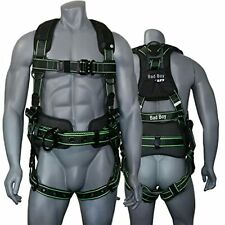 Afp Fall Protection Safety Harness Premium Black With Hi Viz Lime Stitches Bad Boy