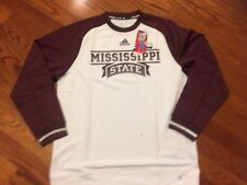 NWT! MISSISSIPPI STATE ADIDAS L/S Team Player Crew Sweatshirt Adult XXL