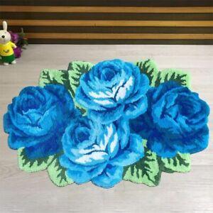 Carpet Home Decoration Rose Design Flocking Rug Floor Mat Living Room Decorative