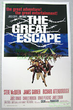 80's Vintage ☆ Steve McQueen THE GREAT ESCAPE Lobby Card Poster Heavy Card Stock