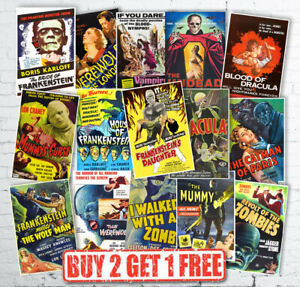 Vintage Retro Classic Horror B Movie Monster Film Reproduction Posters