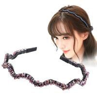 Women Girl's Crystal Hairband Headband Weave Hair Band Hoop Accessories Party