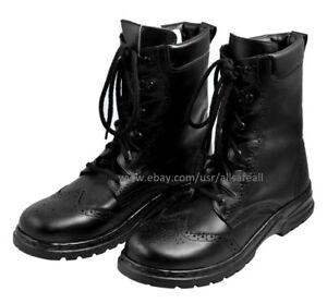 Ghillie Boots Black Leather Ghillie Boots Scottish Kilt Shoes