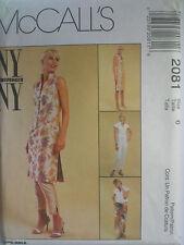 UNCUT SEWING PATTERN MCCALL'S 2081 SIZE 6 DRESS TOP SARONG PANTS V NECKLINE DART