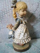 """Anri Sarah Kay Innocence Wood Carved 6"""" Figurine Limited Ed # 24 of 1000 Rare!"""
