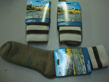 NWT Men's Cabela's Wool Blend Lifestyle Crew Socks 3 Pair Size Large Multi #625A