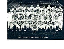 1942 ST. LOUIS CARDINALS  8X10 TEAM PHOTO BASEBALL HOF USA  MUSIAL MARION WALKER