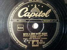 """78 rpm 10"""" DENNIS DAY with a song in mye heart"""