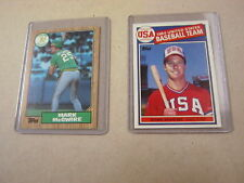 MARK McGWIRE TOPPS 1985 OLYMPIC & 1987 ROOKIE CARDS! BOTH MINT!