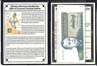 5 Bizarre Burmese Banknotes  of Unusual Denomination  Album,Story & Certificate
