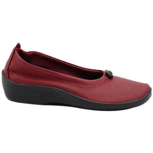 Arcopedico L1 Synthetic Casual Slip-On Elasticated Ballet Pumps Womens Shoes