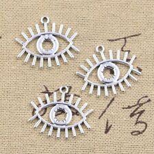 10pcs Antique Hollow Eye Charms 22x26mm Tibetan Pendants Charm Jewelry Making Fi