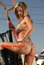 Sexy Hot Blonde  Model Girl Bikini Fridge Tool Box Magnet Refrigerator M174