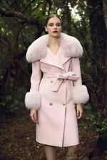 Marie Elie Luxury Belt Fur Trench Coat