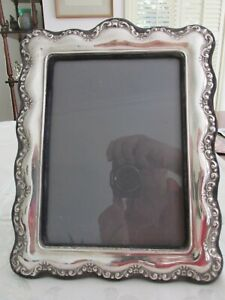 Large Antique ? Sterling Silver Photo Frame Irish ? Age Unknown