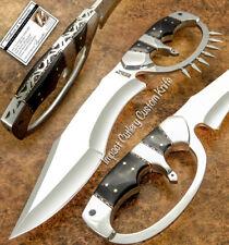 IMPACT CUTLERY RARE CUSTOM D2 FULL TANG BOWIE KNIFE BULL HORN HANDLE