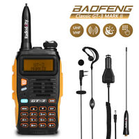 DHL! Baofeng GT-3 Mark II VHF/UHF 2M/70CM 5W Ham Two-way Radio+ Earpiece