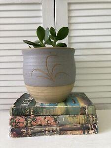 Vintage Plant Pot Planter Hand Thrown Studio Pottery Stoneware