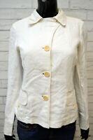 Giubbotto MARLBORO CLASSICS Donna S Giubbino Giacca Bianco Jacket Woman Lino