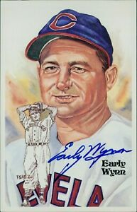 Early Wynn Cleveland Indians Signed Perez Steele HOF Postcard JSA Authenticated