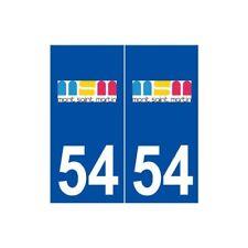 54 Mont-Saint-Martin logo autocollant plaque stickers ville -  Angles : arrondis