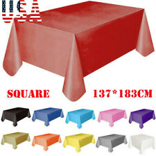 New Large Plastic Rectangle Table Cover Cloth Wipe Clean Party Tablecloth Covers