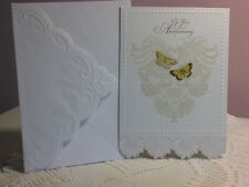 Carol's Rose Garden - On Your Anniversary - two butterflys on embossed white cd