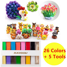 650g 26 Colour Oven Bake Polymer Clay Block Modelling Moulding Sculpey Tool Set
