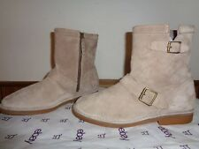 Hush Puppies Taupe Suede Aydin Catelyn Ankle Boots Womans 10M